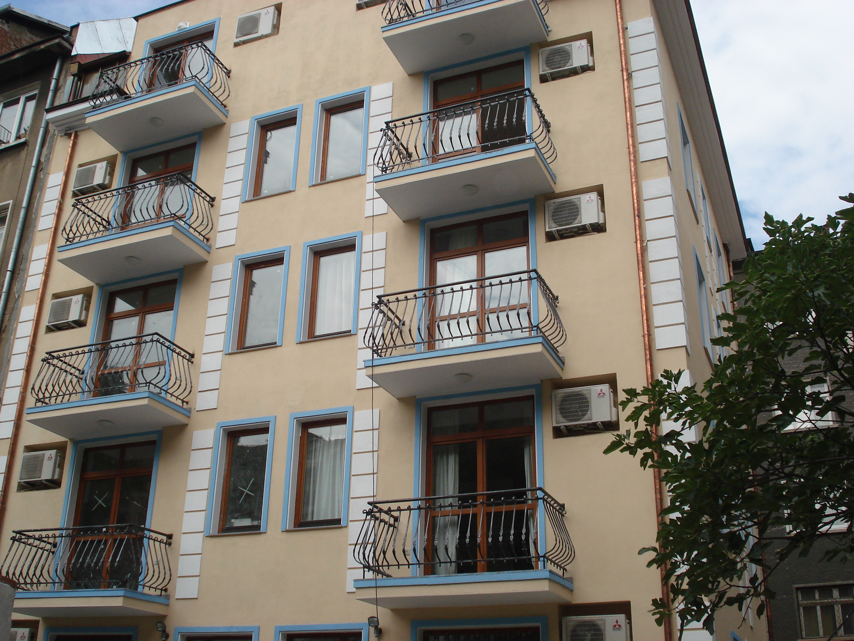 Apartment building of Denkoglu st. in Sofia